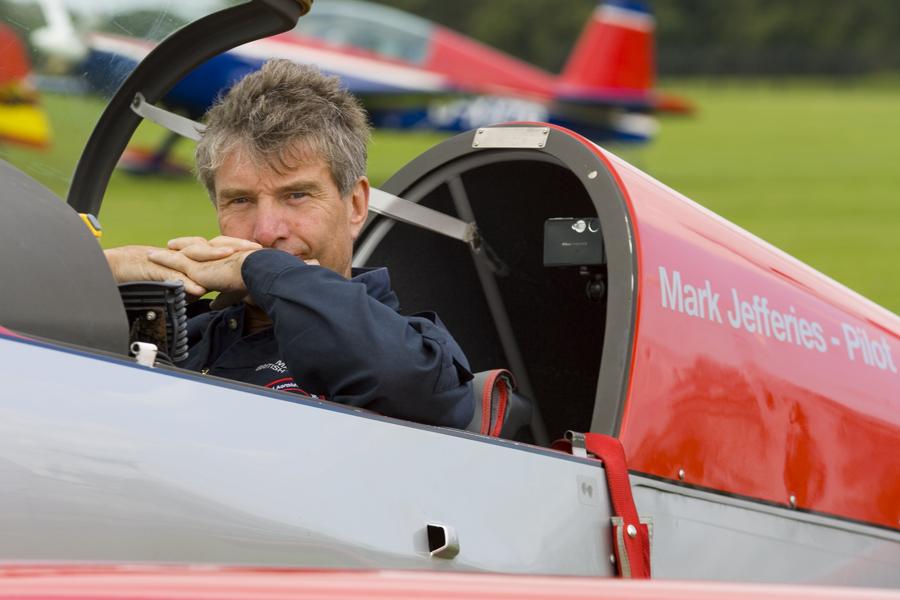 Mark Jefferies Air Displays in cockpit of G-IIUI