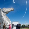 kelpies with the Queen